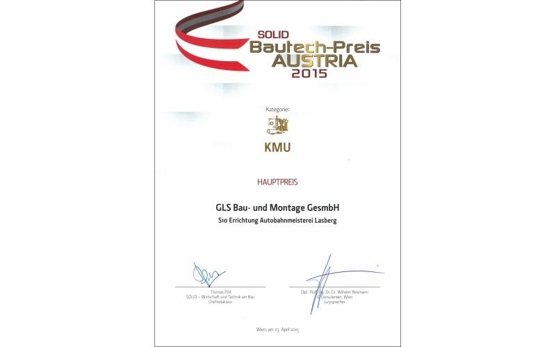 Bautech-Preis AUSTRIA 2015