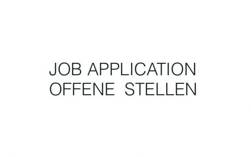 Job application for open positions