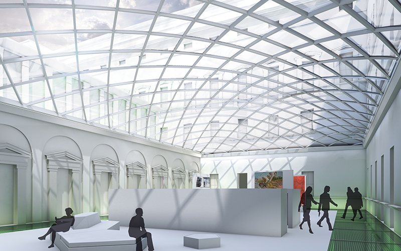 Akademie der Bildenden Künste: Innenhof © Bramberger [architects]