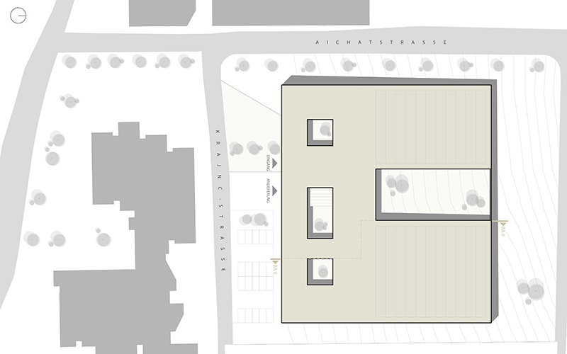 Die Schatzkiste Tirols: Site plan © Bramberger [architects]