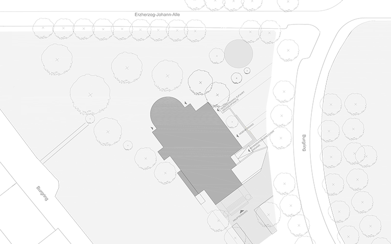 KM Graz: Site plan © Bramberger [architects]