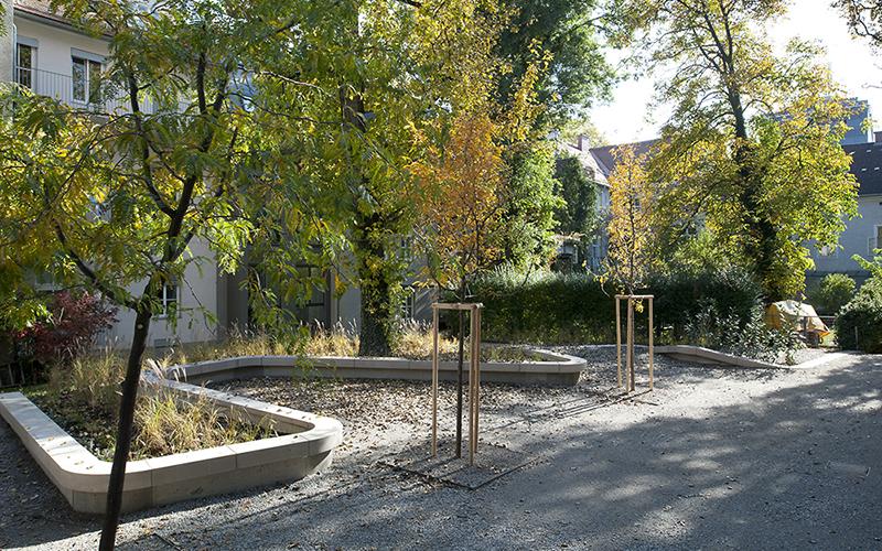 Quartier Leech: Garden view © Helmut Tezak