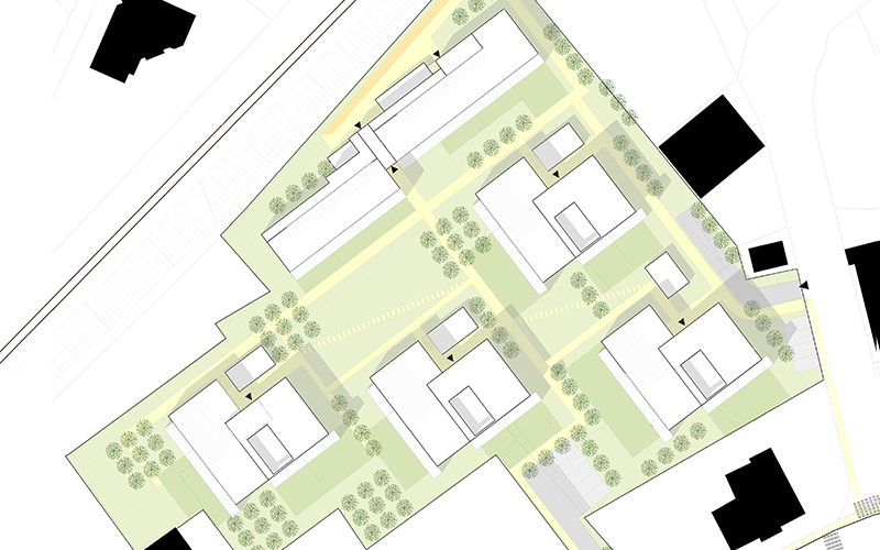 Wohnbau Pflegergründe: Lageplan © Bramberger [architects]